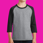 Youth Core Blend 3/4 Sleeve Raglan Tee