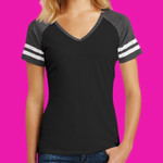 ® Women's Game V Neck Tee