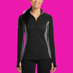 Ladies Sport Wick ® Stretch Contrast 1/2 Zip Pullover